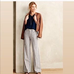 Anthropologie // Pilcro Linen Wide Leg Pants